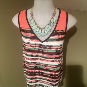 My Michelle Women's Sleeveless Tunic Top/SZ S